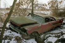 Potato quality but I thought you guys might like this poor abandoned Plymouth I found in the woods years ago