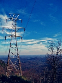 Power Lines and Mountains near Campobello SC