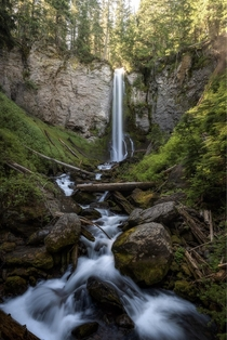 Power Nap How many of you have ever got somewhere a way to early so you ended up taking a nap Thats exactly what happened to me at this waterfall on this morning before I woke and shot this photo Thank you and have a awesome day Washington state OC  IG jo