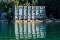 Power Plant on Indian Arm fjord in BC