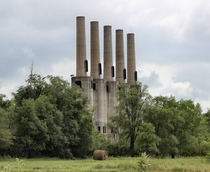 Powerplant stacks at an abandoned WWII gunpowder plant Rosemount MN