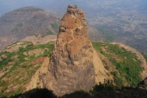 Prabalgad Fort dating from around  Carved out of the rock at an an elevation of  feet Maharashtra India