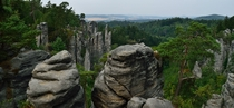 Prachovsk skly beautiful rock formations in the Bohemian Paradise