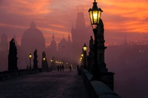 Prague at dusk X-post from rpics