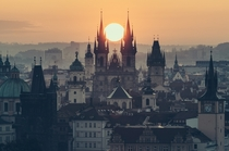 Prague at sunrise  by Stefan Klauke