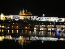 Prague Castle and Charles Bridge Prague Czech Republic