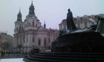 Prague CZ in the snow