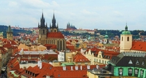Prague Czech Republic from the Powder Tower