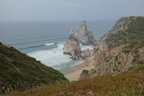Praia da Ursa Portugal from the clifftops
