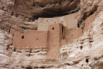 Pre-Columbian Architecture - Montezuma Castle in Arizona built by the Sinagua people