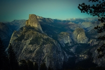 Pre-dusk over Half Dome and Little Yosemite Valley