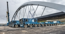 Prefab rail bridge being placed tonight near Muiderberg NL