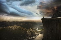 Preikestolen  Photo by Robin Kamp xpost from rNorwayPics