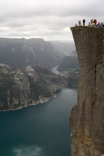 Preikestolen Pulpit Rock Norway - A nearly ft m sheer drop