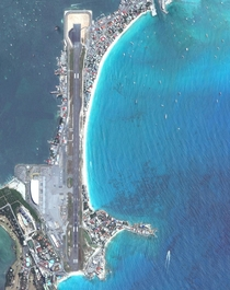 Princess Juliana International Airport on the Caribbean island of Saint Martin Photo Maxar Technologies