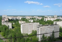 Pripyat roof of the th floor building