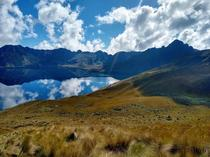 Pristine lake in the Andes of Ecuador