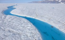 Pristine melt-water ravine Petermann Glacier Greenland
