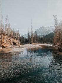 Pristine waters in Glacier National Park Montana  igtrek_with_trey