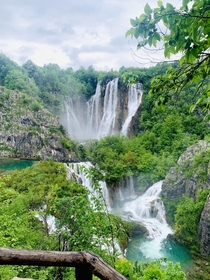 Probably the best picture Ive ever taken Plitvice Lakes National Park Croatia