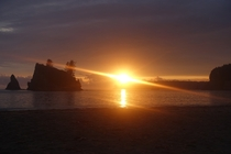 Probably the best sunset Ive ever seen the Olympic Coast