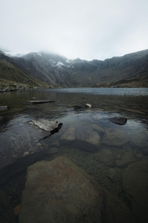 Probably the last days of snow-capped mountains until winter - Llyn Idwal Snowdonia National Park Wales