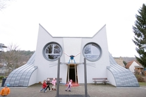 Programmatic Architecture A Kindergarten that looks like a Cat Kindergarten Wolfartsweier Karlsruhe Germany