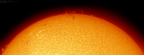 Prominence on todays Sun  by Paul Stewart