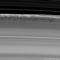Propeller Shadows on Saturns Rings Taken by Cassini