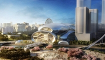 Proposed design for Hebin Theater Performing Arts Center  Guiyang China