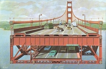 Proposed second deck on golden gate bridge