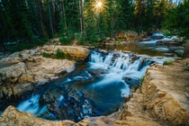 Provo River Waterfalls at Sunset Utah  OS