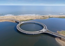 Puente Laguna Garzn Uruguay The concept was to transform a traditional vehicular crossing into an event that reduces the speed of the cars to provide an opportunity to enjoy panoramic views to an amazing landscape and at the same time create a pedestrian