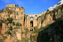 Puente Nuevo amp Tayo Waterfall Ronda Andalusia Spain
