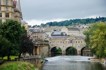 Pulteney Bridge in Bath England