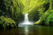 Punchbowl Falls Oregon Photo by Piriya Wongkongkathep xpost from rJunglePorn
