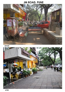 Pune MH India A glimpse of Punes scheme to redevelop its streets to a more cyclistpedestrian friendly metropolis