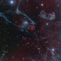 Puppis A top right - The remnant of a supernova spanning  light years across and located  light years away The light from the supernova itself would have been visible to the human eye around  BC Image Credit NASADon Goldman via APOD