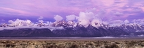Purple Plain Peaks - Grand Teton National Park Wyoming  by David Howland