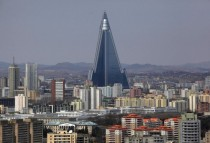 Pyongyang North Korea Ryugyong Hotel is finished  ft and th highest floor count