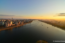 Pyongyang North Korea Sunrise  More in the comments