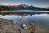 Pyramid Mountain on Pyramid lake in Jasper Alberta Canada  photo by Basic Elements Photography