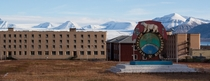 Pyramiden Abandoned mining town on Svalbard Norway