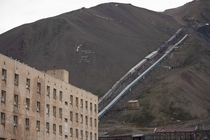 Pyramiden abandoned Soviet mining town in the Svalbard Islands Norway