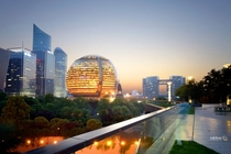 Qianjiang CBD the business political and cultural center of Hangzhou China - host of this years G summit