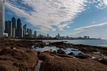 Qingdao Shandong China - Skyline on a September morning