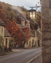 Quaint village in the English countryside