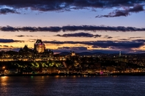Quebec City after sunset