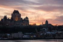 Quebec City Canada at sunset