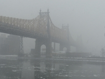Queensboro Bridge in the snow